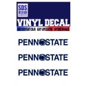 SDS Design 3 pk Block Text Decal