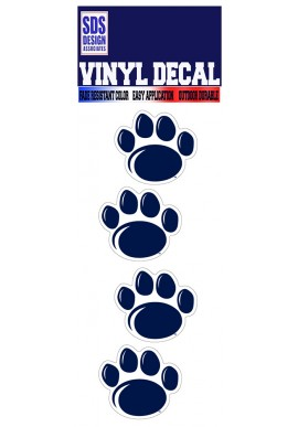 SDS Design New Paw Decal 4 Pk