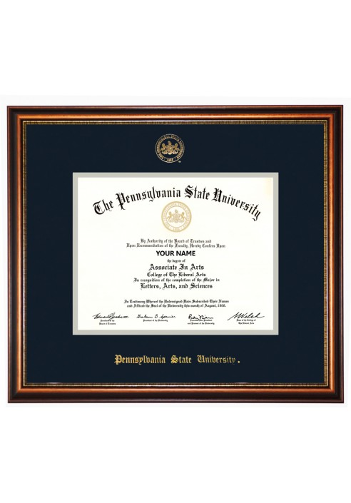 Collegiate Memories Walnut Elite Gold Diploma Frame