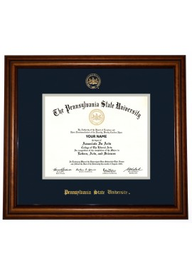 collegiate memories walnut traditional diploma frame - Dual Diploma Frame