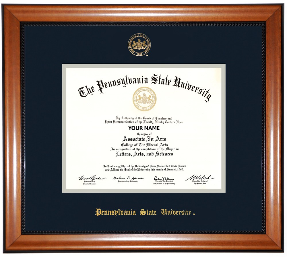 Funky Penn State Diploma Frame Illustration - Framed Art Ideas ...