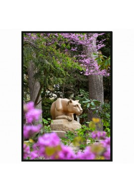 Nittany Lion Shrine in Spring - Wood Sign