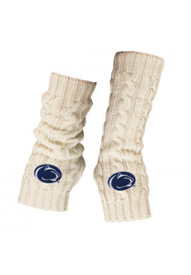 LogoFit Cable Logo Knit Fingerless Mitts
