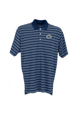 Vantage Striped Logo Polo - Men's