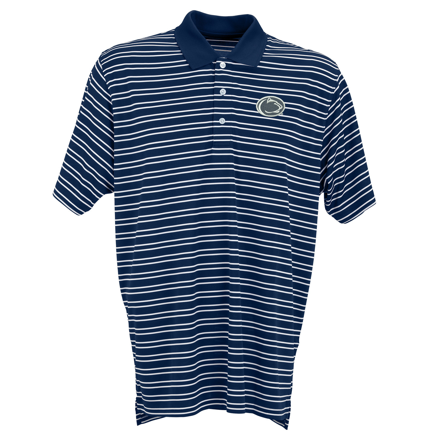 Men S Striped Nittany Lion Logo Polo By Vantage Mclanahan S