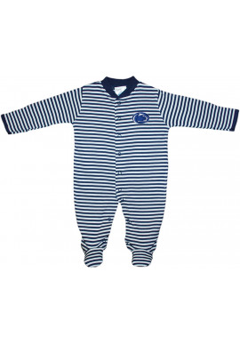 Creative Knitwear Striped Logo Sleeper - Infant