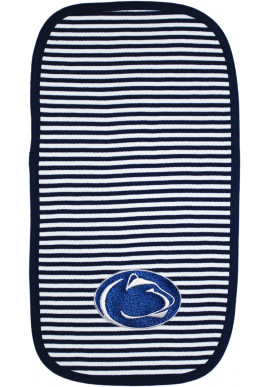 Creative Knitwear Striped Logo Burp Cloth