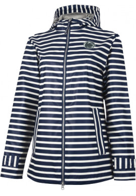 Charles River Striped Nittany Lion Logo Rain Jacket