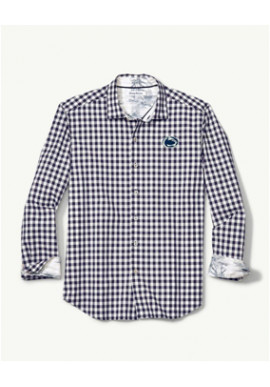 Tommy Bahama Nittany Lions Pacific Check Long Sleeve Button Up - Men's