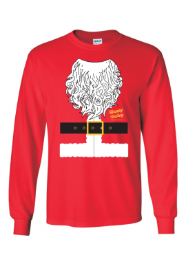 Ugly Sweater Santa  L/S Tee - Men's