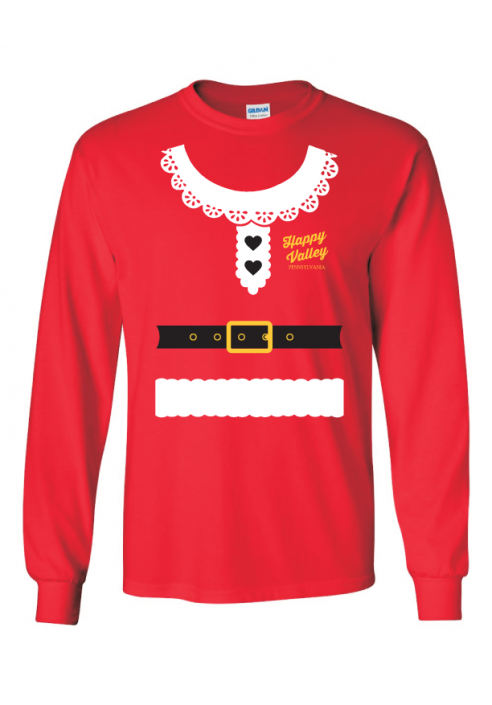 Ugly Sweater Mrs. Claus  L/S Tee - Men's
