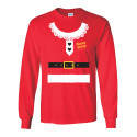 Mrs. Claus Ugly Sweater Designed Long Sleeve Tee - Men's