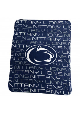 Logo Brands Nittany Lion Logo Fleece Blanket
