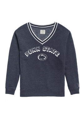 League Penn State Logo V-Neck Crew - Women's