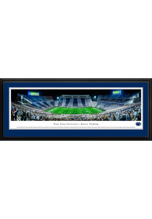 Blakeway Beaver Stadium Stripe Out Panoramic Photo - Deluxe Frame