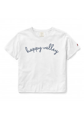 League Happy Valley Embroidered Crop Tee - Women's