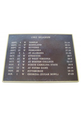 Wood Sign - 1982 Football Season