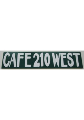 Wood Sign - Cafe 210 West (Long)