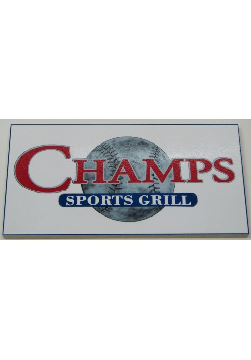 Wood Sign - Champs