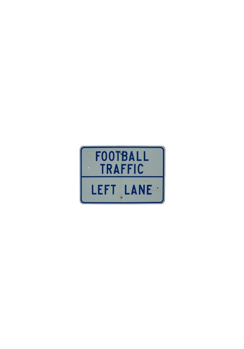Wood Sign - Football Traffic