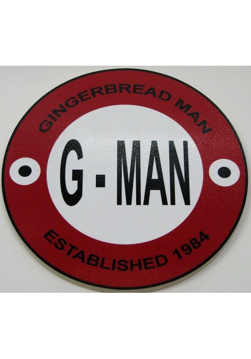 Wood Sign - G-Man