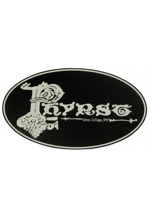Wood Sign - Phyrst (Black)