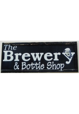 Wood Sign - The Brewery