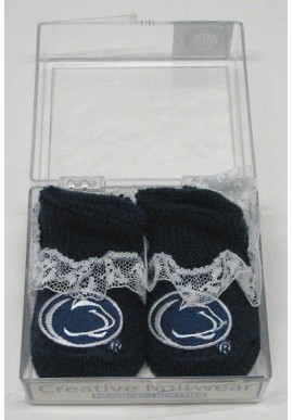 Creative Knitwear Infant Lace Booties In Box