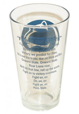Penn State Pint Glass With Fight Song on the back