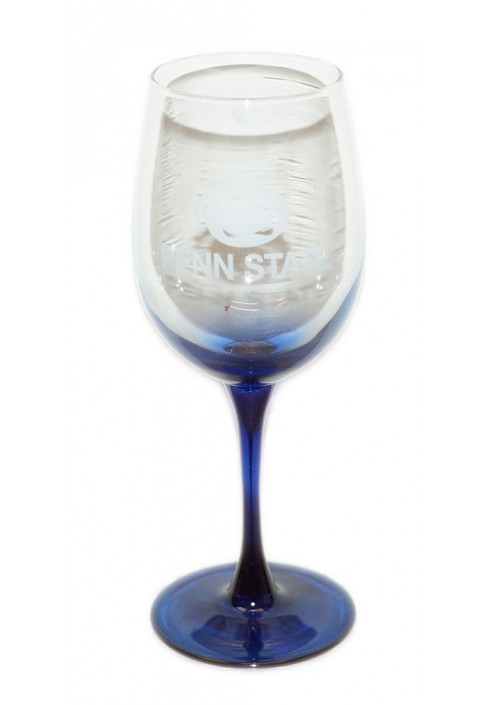 Penn State Wine Glass Navy Bottom