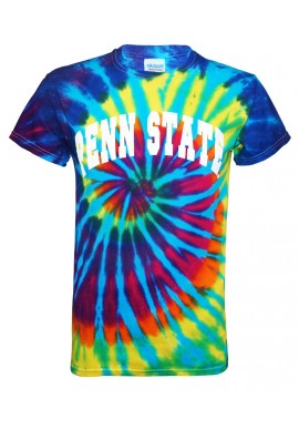 Penn State Arched Tie Dye T-Shirt