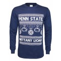 Ugly Sweater Designed Ornaments Long Sleeve Tee-Men's