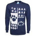 Ugly Sweater Designed Paw/Logo Long Sleeve Tee-Men's